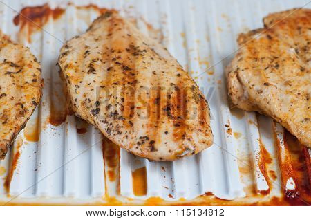 Chicken Breast On An Electric Grill