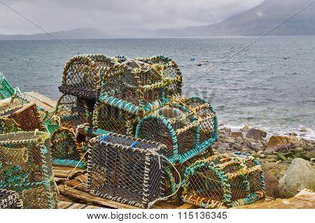 Fishing Creels At Elgol Port