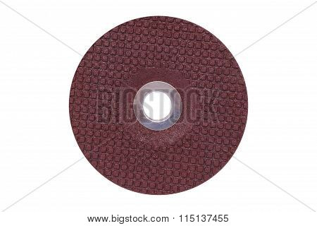 Grinding Wheel Isolated On White Background
