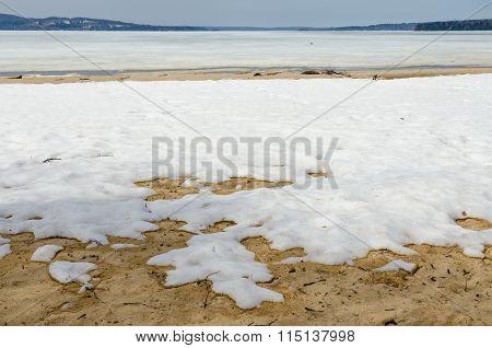 Snow On Sand