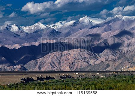 Rocky Landscape Of Leh City, Ladakh, Jammu And Kashmir, India
