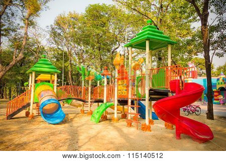 Children Kid Playground For Kindergarten And Elementary Student Leisure And Recreation Activity With