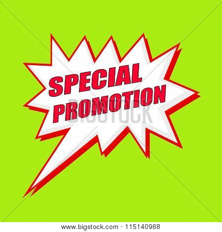 Special Promotion Wording Speech Bubble