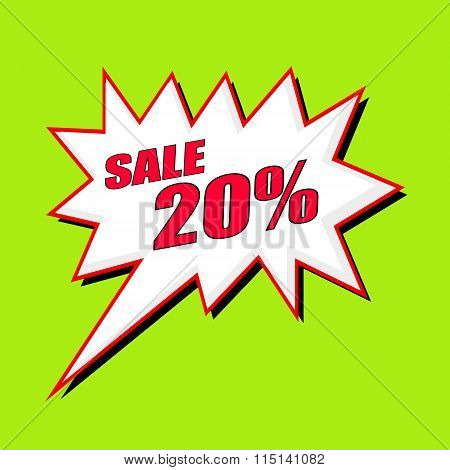 Sale 20 Percent Wording Speech Bubble