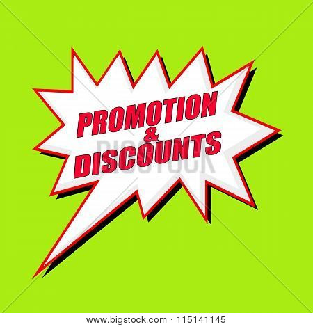 Promotions And Discounts Wording Speech Bubble