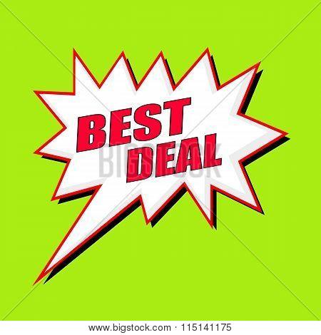 Best Deal Wording Speech Bubble