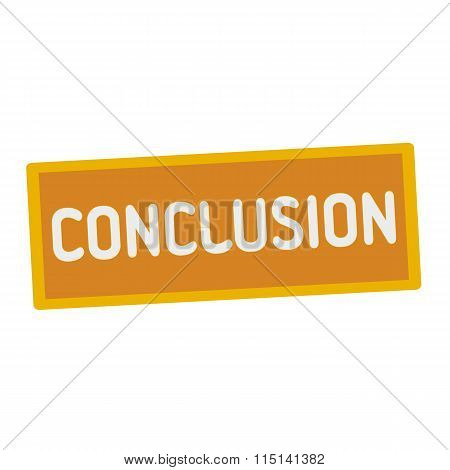Conclusion Wording On Rectangular Signs