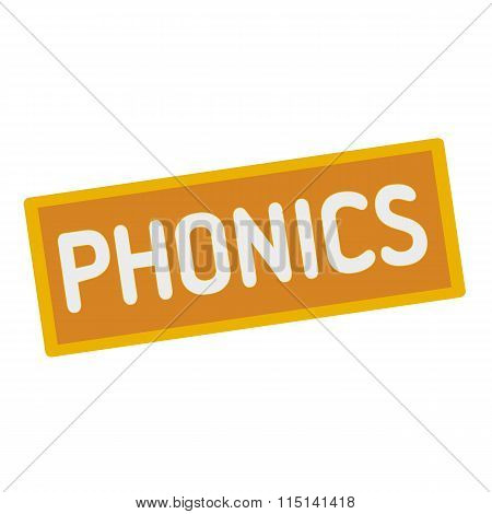 Phonics Wording On Rectangular Signs