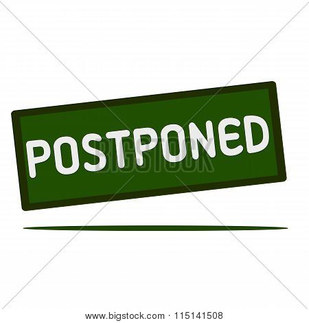 Postponed Wording On Rectangular Signs