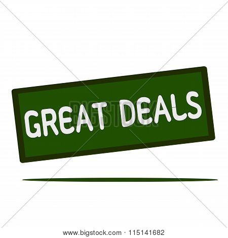 Great Deals Wording On Rectangular Signs