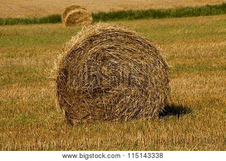 hay bale close-up
