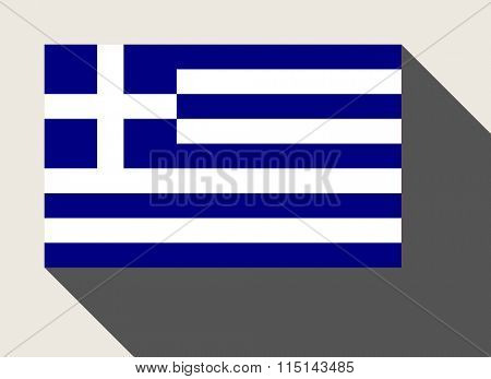 Greece flag in flat web design style.