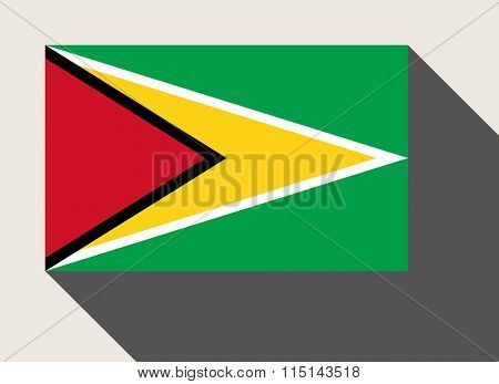 Guyana flag in flat web design style.
