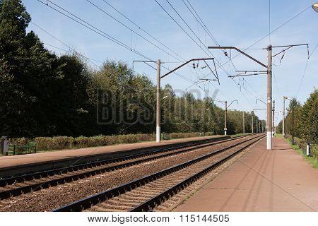 Empty Railway Station in Minsk