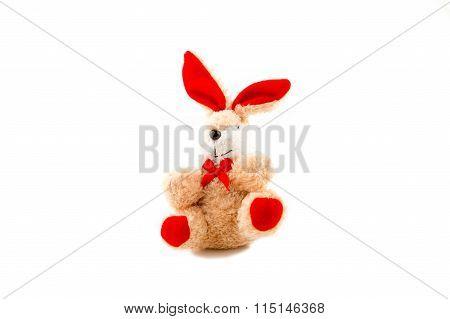 Rabbit Doll On White Background.