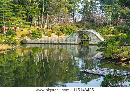 Shukkeien Japanese Style Garden In Hiroshima, Japan