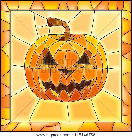 Vector Illustration Of Halloween Pumpkins.