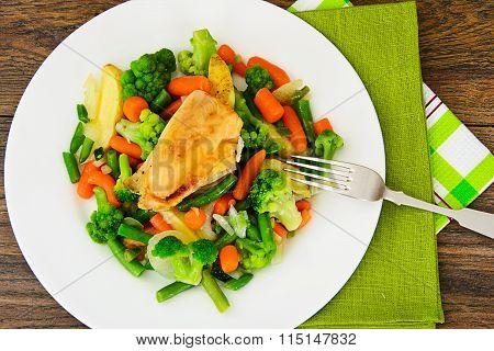 Steamed Vegetables Potatoes, Carrots, Corn, Green Beans, Onion w