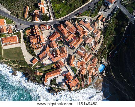 Top View of Azenhas Do Mar, Sintra, Portugal