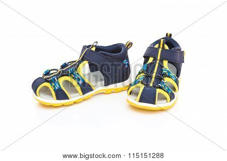 Trendy Sandal For Boy On White Background
