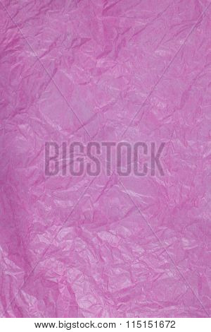 Pink Crumpled Paper Surface Background.