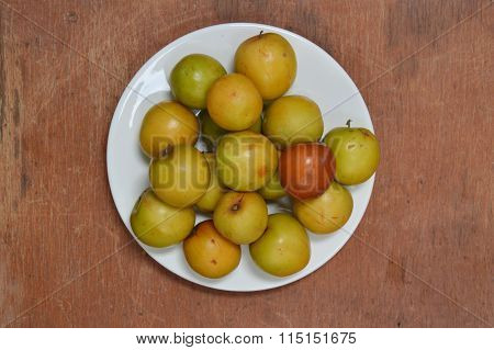 Chinese jujube in the dish