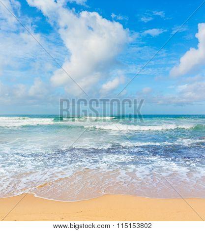 View of the Indian ocean. Sri Lanka