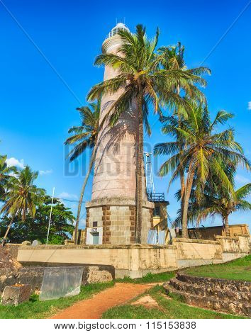 Onshore Lighthouse in Galle, Sri Lanka