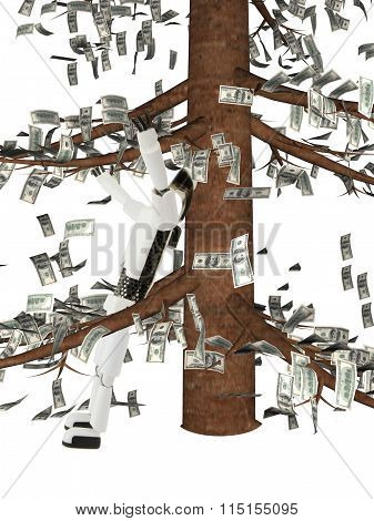 the robot costs under a monetary tree