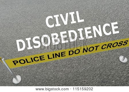 Civil Disobedience Concept