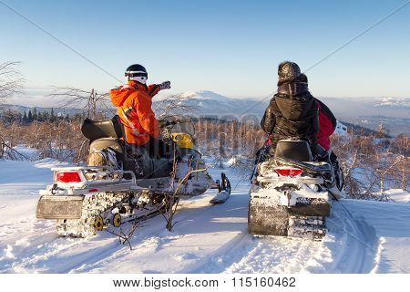 Walk On Snowmobiles