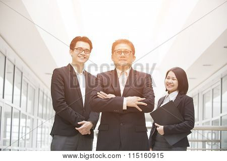 Asian Business Team Outdoor