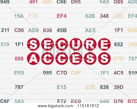 Security concept: Secure Access on wall background