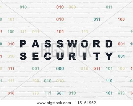 Privacy concept: Password Security on wall background