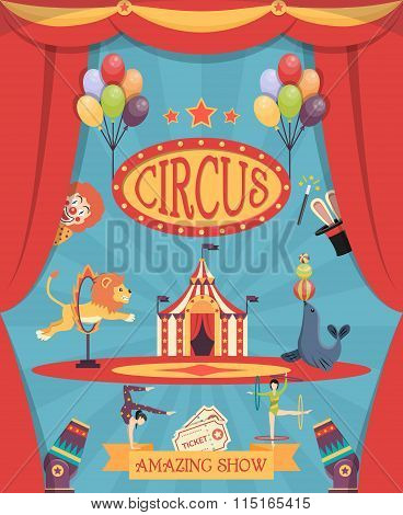 Amazing Circus Show Poster