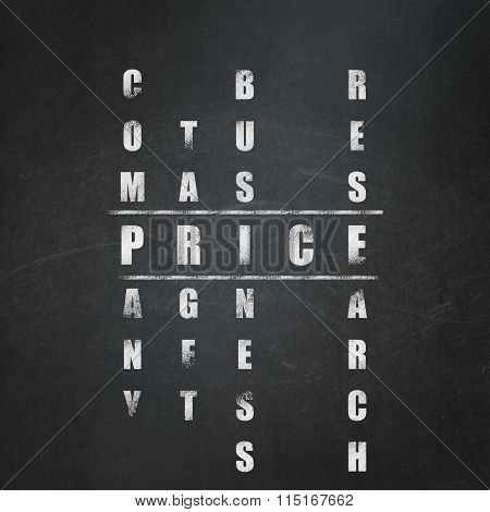 Advertising concept: Price in Crossword Puzzle