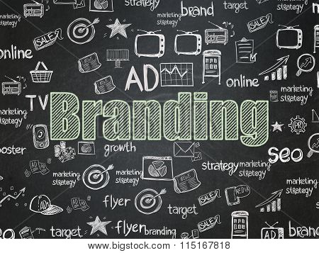 Marketing concept: Branding on School Board background