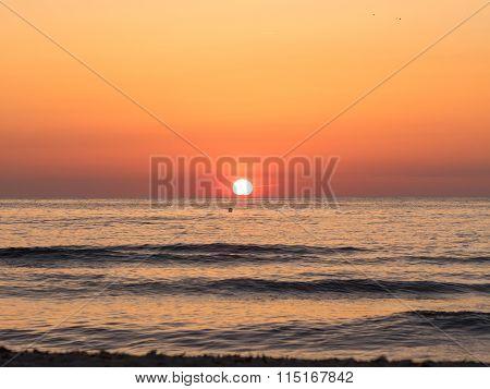 Cala Saona Beach Sunset
