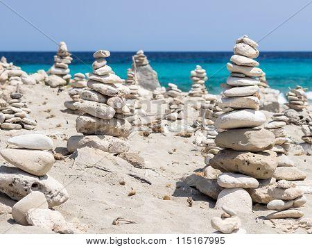 Stones In Formentera Beach