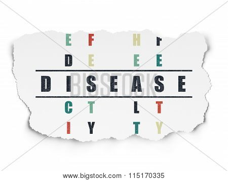 Healthcare concept: Disease in Crossword Puzzle