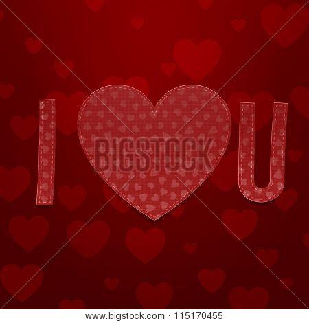 I love You Abbreviation. Valentines Day Symbols