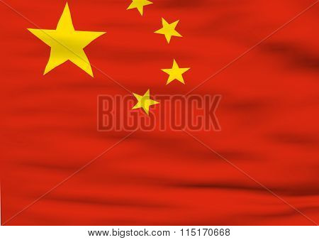 Image Of A Flag Of China