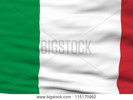 Image Of A Flag Of Italy