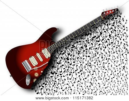 Musical Guitar Background