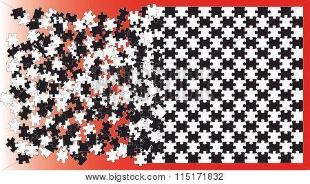 puzzles, Print, logo
