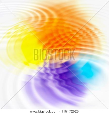 Abstract Color Spots And Ripples
