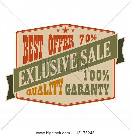 Exclusive sale vintage banner