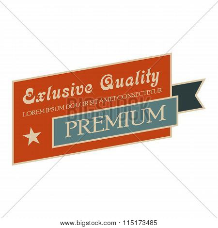 Exclusive quality vintage banner