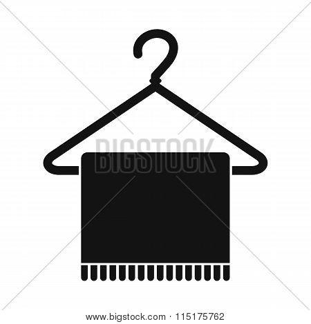 Scarf on coat-hanger icon