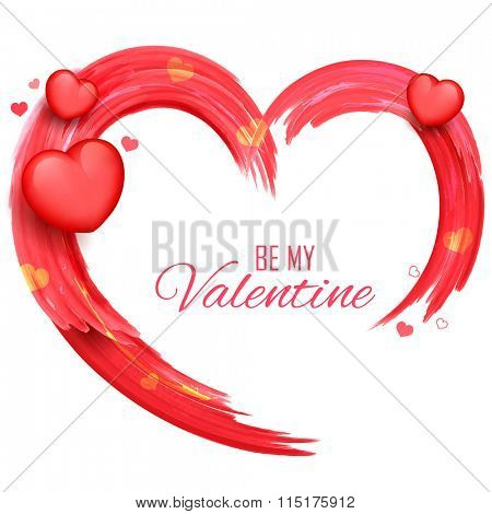 illustration of abstract Valentine's Day Background saying Be my Valentine